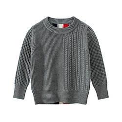 Свитер для мальчика Три полоски, серый 27 KIDS (100)