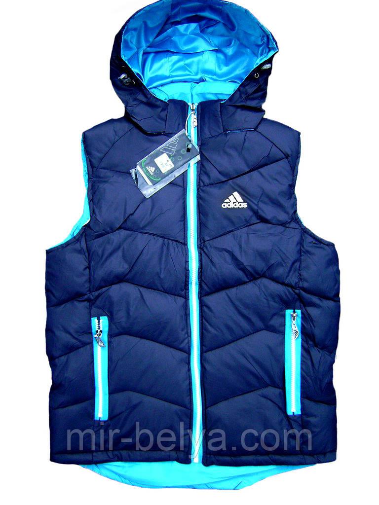 Мужская теплая зимняя жилетка Adidas двухсторонняя