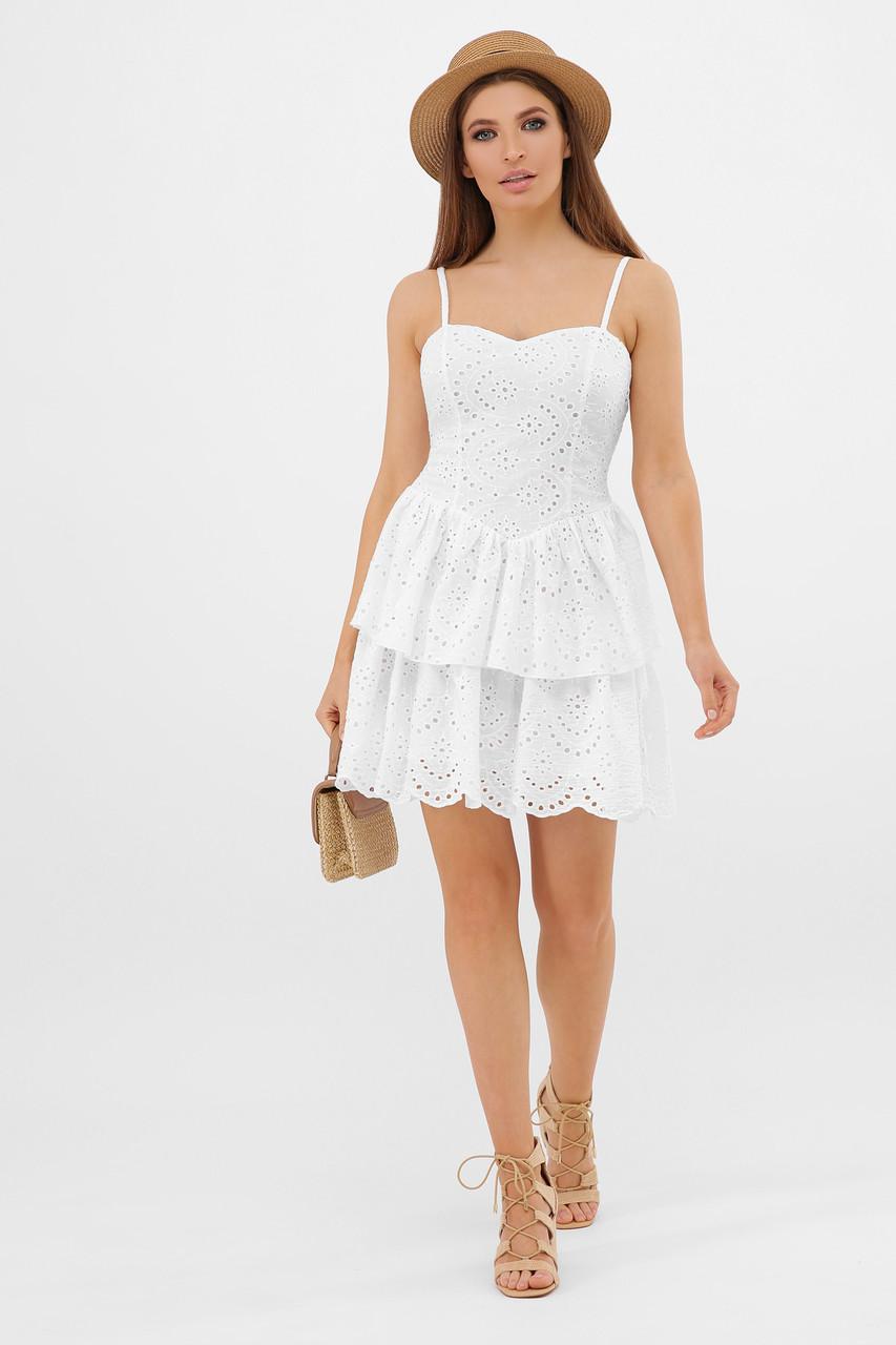 Белый летный сарафан