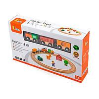Железная дорога Viga Toys, 19 деталей (51615)