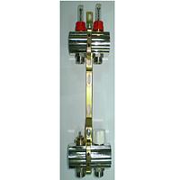 Коллекторная група Luxor с расходомерами и термо клапанами м30х1,5  3 выхода