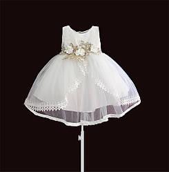Платье для девочки Белая жемчужина Zoe Flower (12 мес) 2 года, 92