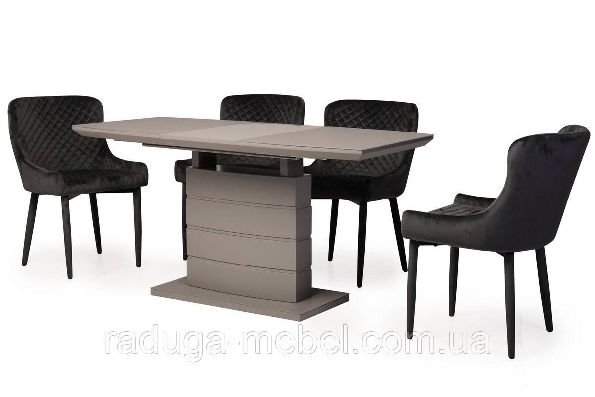Стол МДФ + матовое стекло ТММ-50-2 серый