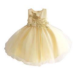 Платье для девочки Золотой павлин Zoe Flower (12 мес)