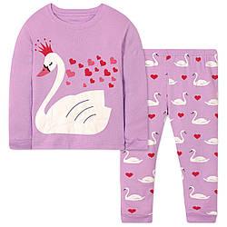 Пижама для девочки Лебедь Wibbly pigbaby (90)