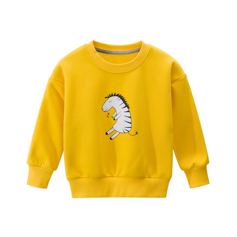 Свитшот для девочки утеплённая Зебра с цветами 27 KIDS (90)