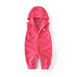 Комбинезон для девочки флисовый Маленькое сердечко, розовый Berni Kids (6 мес) 24 мес, 92