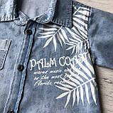 Летний джинсовый  костюм на мальчика 112. Размер 2 года, 3 года,  4 года, фото 3