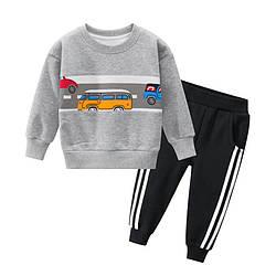 Костюм для мальчика утеплённый Дорога, серый 27 KIDS (130)