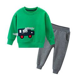 Костюм для мальчика утеплённый 2 в 1 Крокодил-водитель, зелёный 27 KIDS (140)