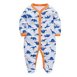 Человечек для мальчика Синие динозавры Berni Kids (0-3 мес)