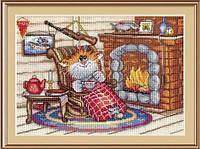Набор для вышивки крестиком Уютный вечер 17х24 см МП Студия