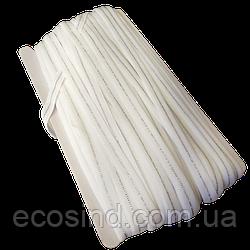 НА МЕТРАЖ Резинка белая с люрексом для бретель, ширина 1см (УМН-660-0004)