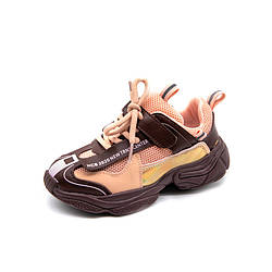 Кроссовки для девочки Town, коричневый Berni Kids (26) 30