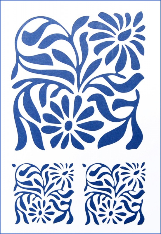 Трафарет универсальный 22х31 Цветочный орнамент №2