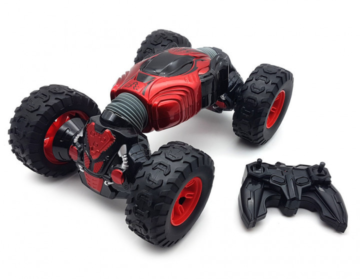 Машинка трансформер всюдихід перевертиш 34 см радіокерована трюкова машинка з приводом 4х4 Climbr Legends Champions червоний