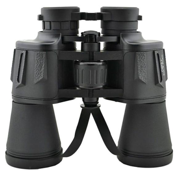 Бинокль прорезиненный с чехлом 20 крат оптика для наблюдения  LandView 20x50 черный