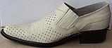 Туфли казаки кожаные бежевые мужские летние от производителя модель ЛЕ10-3, фото 2