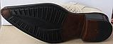 Туфли казаки кожаные бежевые мужские летние от производителя модель ЛЕ10-3, фото 3