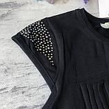 Черная футболка на девочку 33 .Размеры  152 см, 158 см, 164 см, фото 3