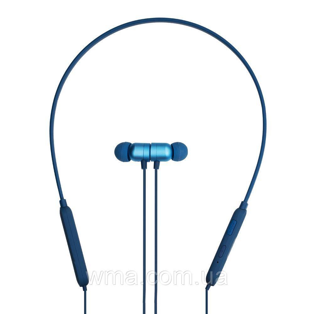 Наушники беспроводные (Bluetooth гарнитура) XO BS10 Цвет Синий