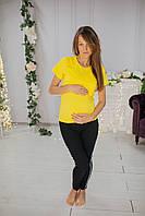 8211 Футболка для беременных желтая HappyNenia L