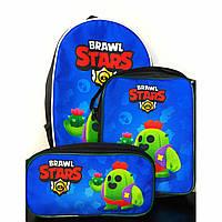 Набор: рюкзак, сумка и пенал Спайк Бравл Старс