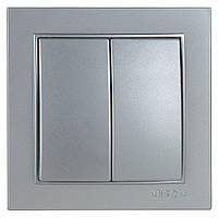 Выключатель Nilson Thor серебро 2кл