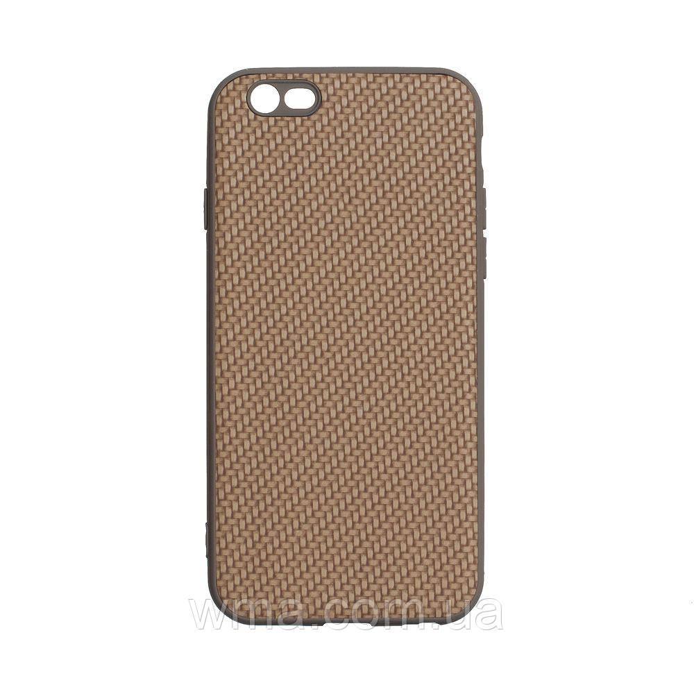 Чехол для телефонов (Смартвонов) Задняя Накладка Carbon for Apple Iphone 6G Цвет Светло-Коричневый