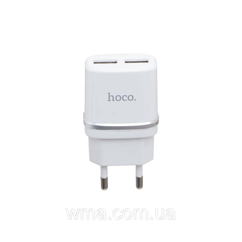 Сетевое зарядное устройство usb (Для телефонов и планшетов) Hoco C12 2 USB Цвет Белый