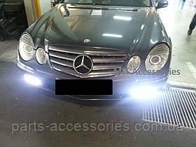 Mercedes W211 E W 211 рестайлінг LED туманки діоди в бампер , грати