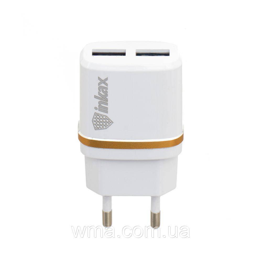 Сетевое зарядное устройство usb (Для телефонов и планшетов) Inkax CD-11 Micro Цвет Белый