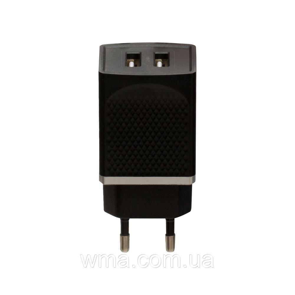 Сетевое зарядное устройство usb (Для телефонов и планшетов) Hoco C43A Vast Power 2 USB Цвет Чёрный