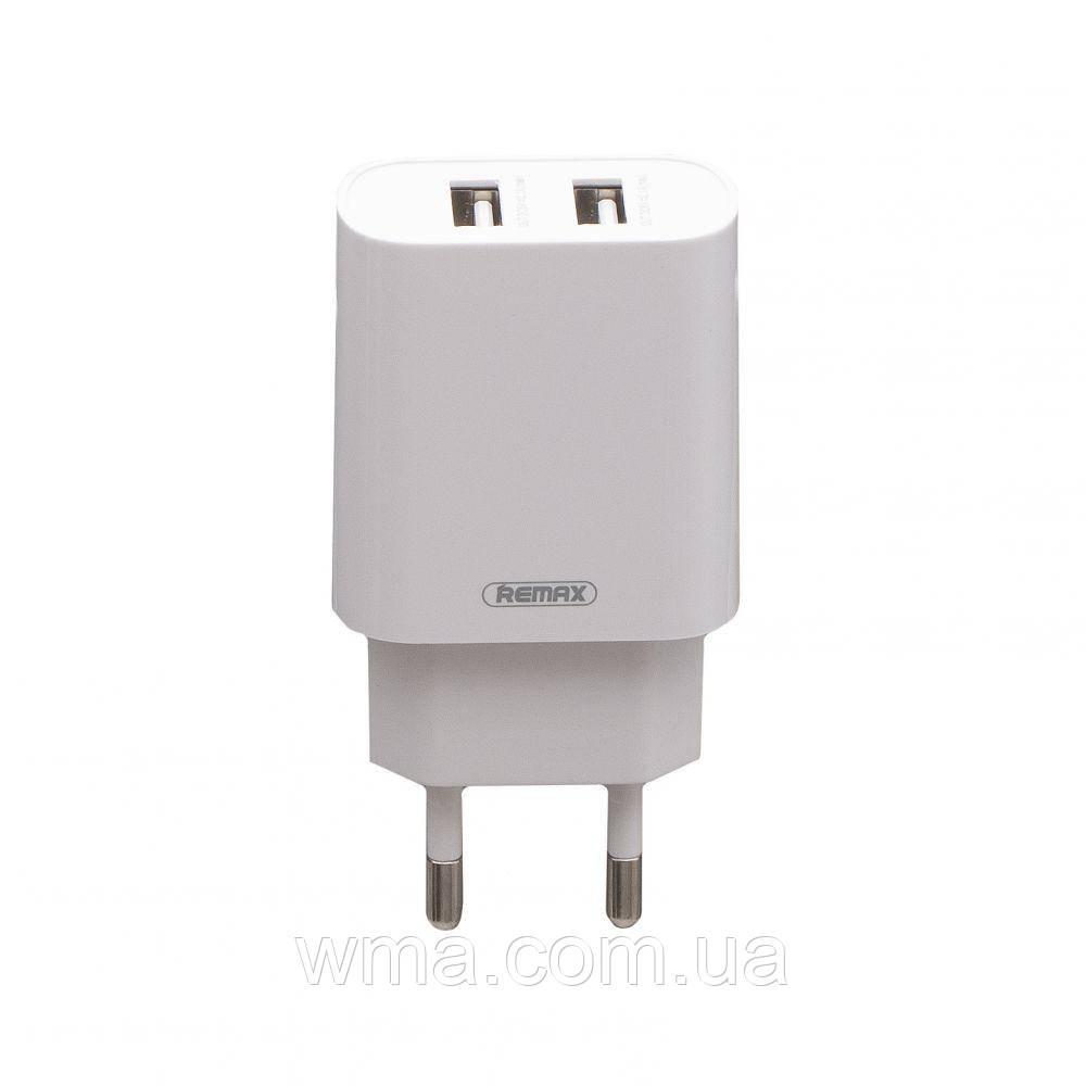 Сетевое зарядное устройство usb (Для телефонов и планшетов) Remax RP-U35 2USB Type-C Цвет Белый