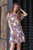 Летнее платье с открытыми плечами (цветочная феерия, 11) арт 201/1, фото 1