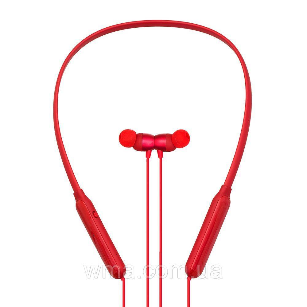Наушники беспроводные (Bluetooth гарнитура) Remax RB-S17 Цвет Красный