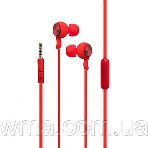 Проводные наушники для телефона  Karler KR-604 Цвет Красный