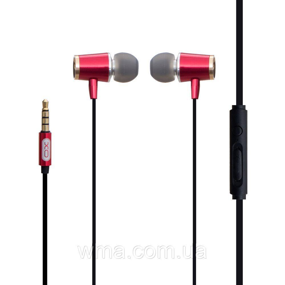 Проводные наушники для телефона XO S28 Цвет Красный