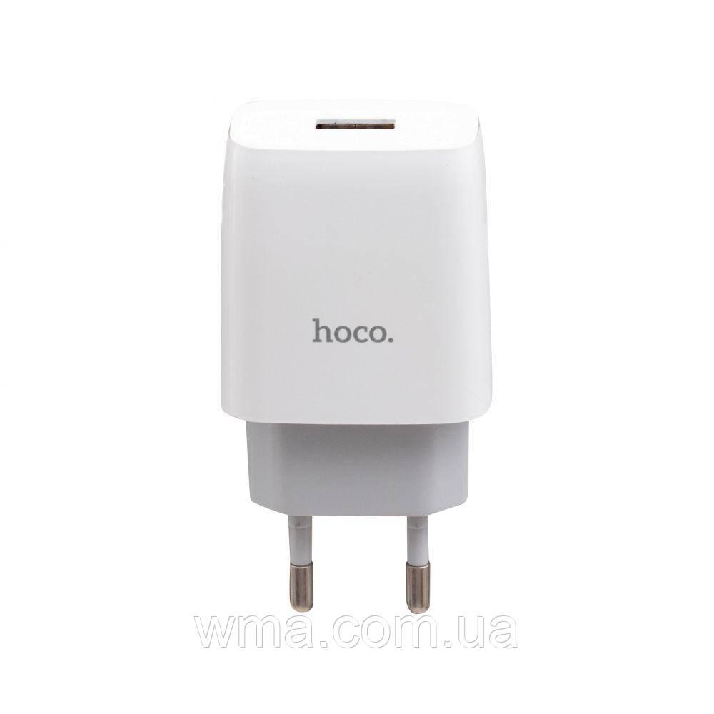 Сетевое зарядное устройство usb (Для телефонов и планшетов) Hoco C72A Micro Цвет Белый