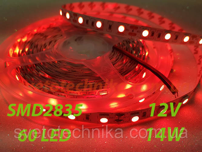 SMD2835 60 Led 14,4 wat красного свечения лента светодиодная