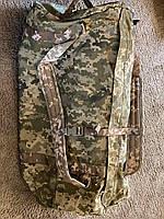 Тактическая крепкая сумка 75 литров. Экспедиционный баул. Украинский пиксель. ВСУ охота спорт туризм рыбалка.