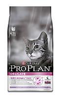 Pro Plan (Про План) Delicate Корм для котов с чувствительной кожей с индейкой 10 кг
