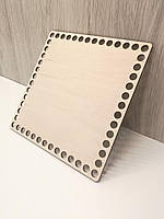 Квадратное донышко для вязания 16см
