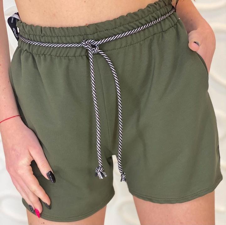 Женские шорты, трикотаж - двунить, р-р 42-44 (хаки)