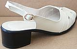 Босоножки на полную ногу на каблуке кожаные от производителя модель БД11, фото 3