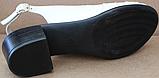 Босоножки на полную ногу на каблуке кожаные от производителя модель БД11, фото 5