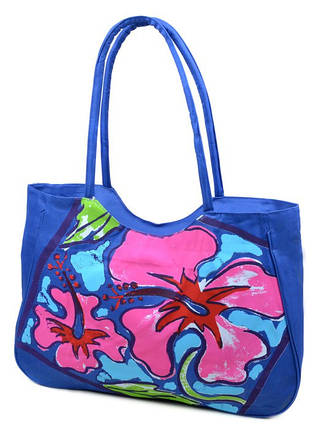 Сумка Женская Пляжная текстиль 1353 blue, фото 2