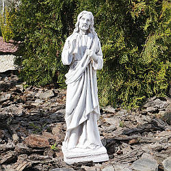 Садовая фигура Иисус светящийся 41 см