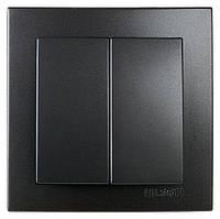 Вимикач Nilson Touran Чорний 2 клавішний