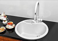 Кухонна мийка гранітна Stella Classic білий